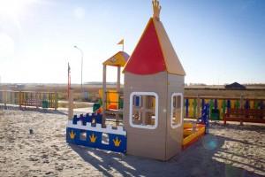 МФ 3.26 - Песочный дворик «Белоснежка» с горкой