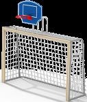 Гандбольные ворота с баскетбольным щитом