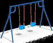 Качели с гибким подвесом двойные (без подвеса)