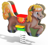 Качалка на пружине «Лошадка»