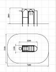 Спортивный комплекс баскетбольный с шестом
