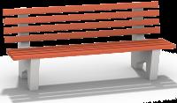 Лавочка бетонная со спинкой