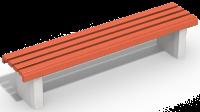Лавочка бетонная без спинки