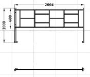 Ограждение металлическое правое угловое 2 метра