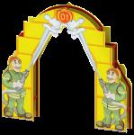 """Входная арка с росписью """"Пожарные"""""""
