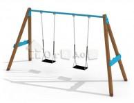 Качели двойные на цепях (без сиденья)