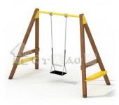 Качели одинарные на цепях (без сиденья)