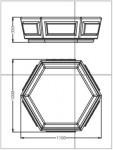 Вазон шестигранный