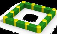 Песочница четырехгранная