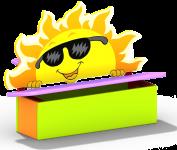 """Детская скамейка """"Солнце"""""""